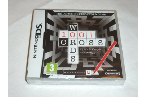 Nintendo DS Game 1001 Crosswords Brand New Factory Sealed ...