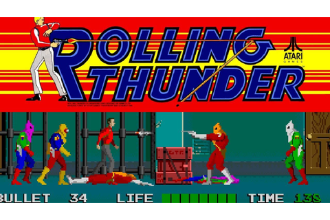 1986 Rolling Thunder (Arcade) Game Playthrough Video Game ...