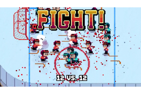 "This new arcade game called ""Super Blood Hockey"" looks as ..."