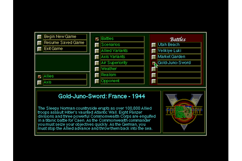 Download V for Victory: Gold-Juno-Sword - My Abandonware