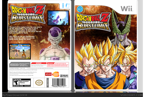 Dragonball Z: Burst Limit Wii Box Art Cover by PowerGlover