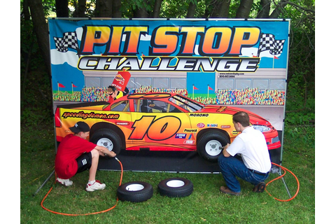 Our Pitstop Challenge Tire Change game lets contestants ...