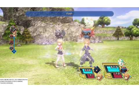 WORLD OF FINAL FANTASY - Battle Gameplay - YouTube
