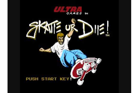 Skate Or Die (NES) - Main Theme (w/ Title Screen) - YouTube