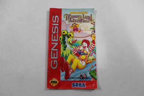 Manual - Mcdonald's Treasure Land Adventure - Sega Genesis