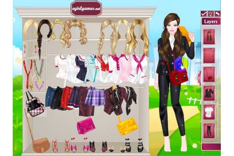 Dress Up Games Girls School Barbie Back to School - YouTube