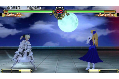 Let's Play Fate Unlimited Codes (PSP) Saber Story Arcade ...