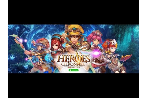 LINE Heroes Chronicle android game first look gameplay ...