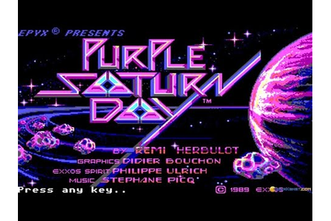 Purple Saturn Day gameplay (PC Game, 1989) - YouTube
