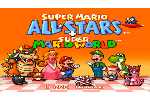Super Mario All Stars HD [ Intro Title Screen & In Game ...