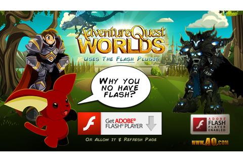 AdventureQuest Worlds on Qwant Games