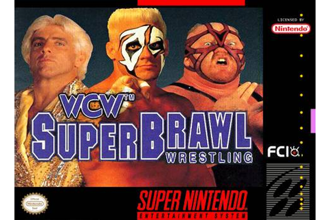 WCW Super Brawl Wrestling SNES Super Nintendo