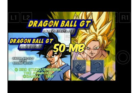 Dragon Ball GT - Final Bout Ps1 Android Game Free Download ...