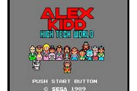 Master System - Alex Kidd in High-Tech World (1987) - YouTube
