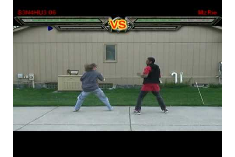 16bit Fighting GAME (real life) - YouTube
