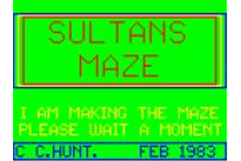 Sultan's Maze for Dragon 32/64 (1983) - MobyGames