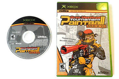 GREG HASTINGS' TOURNAMENT PAINTBALL MAX'D ORIGINAL XBOX ...