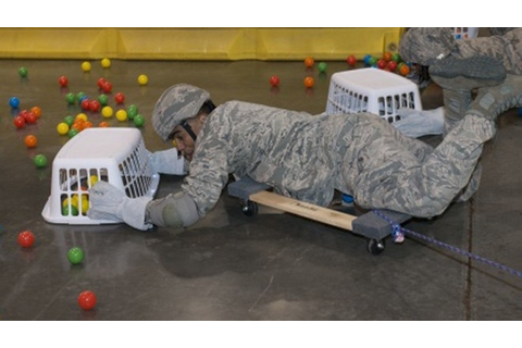 Airmen play 'Hungry Hippos' for team-building experience ...
