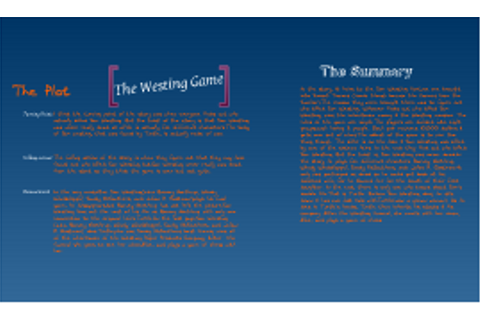 The Westing Games plot and summary by Bailey Montes on Prezi