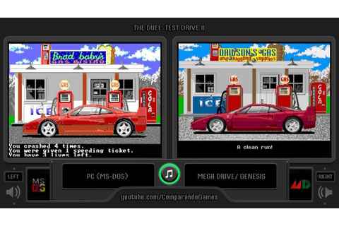 The Duel: Test Drive II (Pc vs Sega Genesis) Side by Side ...