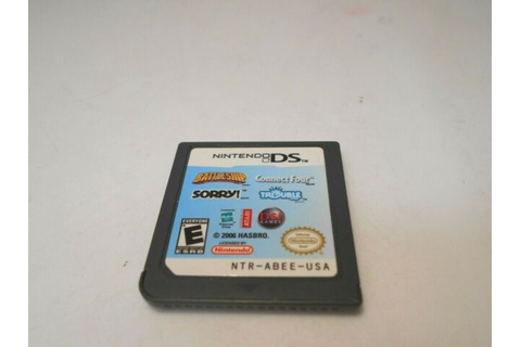 Battleship Sorry Connect Four and Trouble (nintendo Ds ...