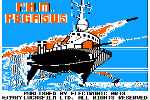 PHM Pegasus (1987) by Lucasfilm Games Apple II E game