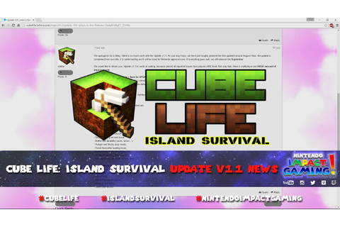 Cube Life: Island Survival Update v1.1 News - YouTube