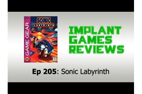 Sonic Labyrinth (Game Gear) - IMPLANTgames Reviews - YouTube