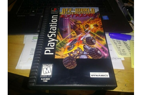 Off-World Interceptor Extreme Long Box Playstation PS1 ...