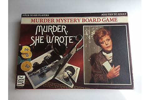 Vintage Murder She Wrote Mystery Board Game RARE 100% ...