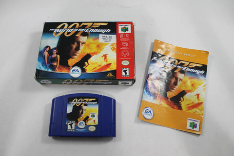 007 THE WORLD IS NOT ENOUGH - NINTENDO N64 Game! COMPLETE