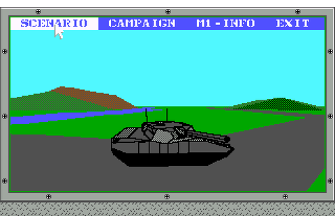 Abrams Battle Tank (1989) by Dynamix MS-DOS game