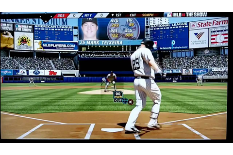 MLB 10 The Show Yankees vs. Redsox (PS3 Gameplay) - YouTube