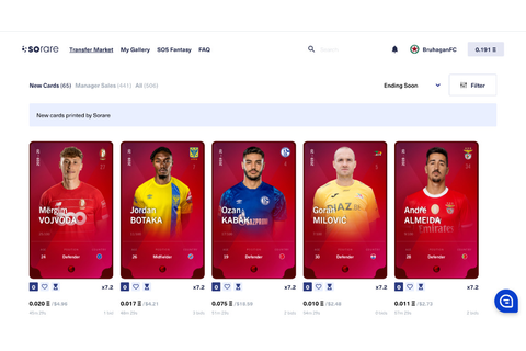 Sorare — Scout, collect and play with football player cards