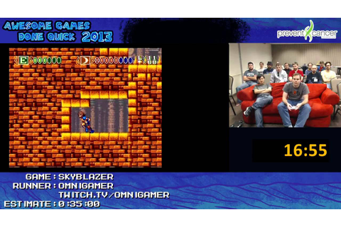 Skyblazer - SPEED RUN (0:29:23) Live at Awesome Games Done ...