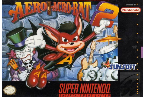 Aero the Acrobat 2 SNES Super Nintendo