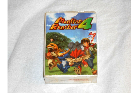 NEW Monster Rancher 4 Video Game PLAYING CARDS Deck SEALED ...