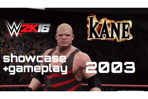 WWE 2k16 Kane 2003 unmasked bald attire-showcase ...