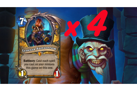 You should play *4* Lynessas EVERY GAME (Witchwood Quest ...
