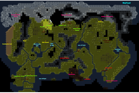 8-Bit City: Tales of Maj'Eyal World Map and Walkthrough ...