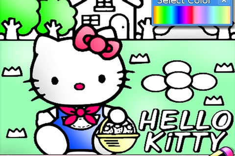 Hello Kitty Coloring Game - Hello Kitty games - Games Loon