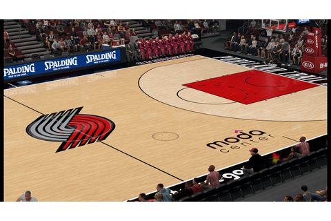 Portland Trailblazers Moda Center HD Court - NBA 2K16 at ...
