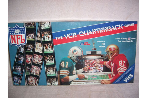NFL OLP The VCR Quarterback Game Vintage Board Game | eBay