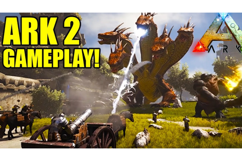 ARK 2 Trailer + Gameplay! Atlas Creatures & End Game Sea ...