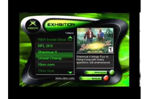 Exhibition 2002 Xbox demo disk content overview. - YouTube