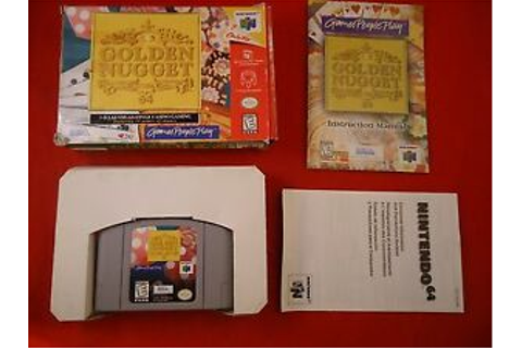 Golden Nugget 64 (Nintendo 64, 1998) COMPLETE w/ Box ...