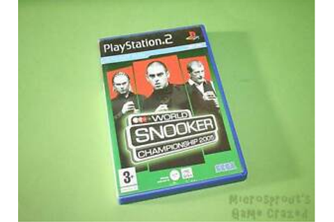 World Snooker Championship 2005 Sony PlayStation 2 PS2 ...
