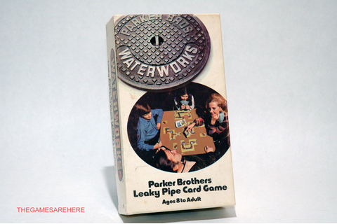 Waterworks Leaky Pipe Card Game Parker Brothers 1972 COMPLETE