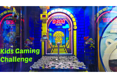 Coin Pusher Golden Empire Arcade Game Challenge Round 1 ...