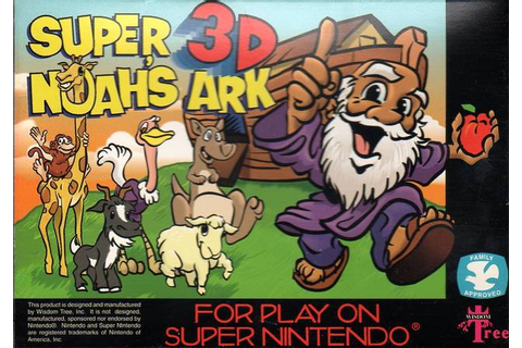 Super Noah's Ark 3-D SNES Super Nintendo